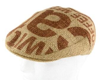 "Upcycling flat Cap Flatcap ""Café espresso""-subject ""Caffex"" (size: 60 cm)"