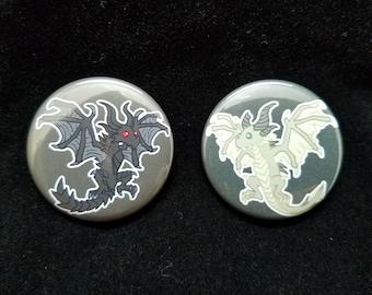 Skyrim Dragon Buttons - Alduin - Paarthurnax - Skyrim Buttons