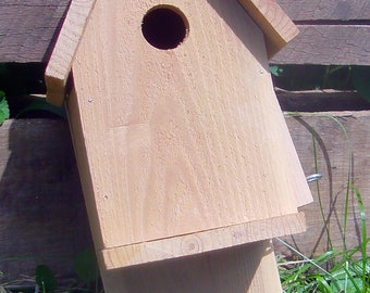 Natural Cedar Birdhouse-Unpainted Bird House-Tree Mount Birdhouse- Tree Mount Birdhouse-Light Weight Birdhouse