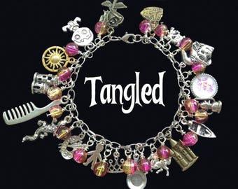 Tangled Rapunzel Womens Charm Bracelet
