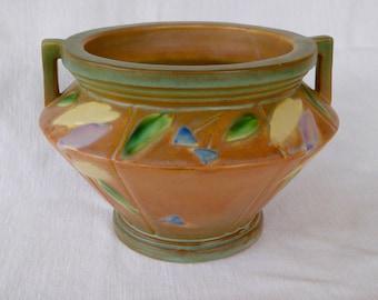 """Vintage Roseville """"Futura"""" Pattern Jardiniere Art Pottery"""