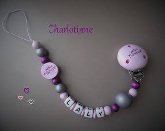 ¤ Pacifier little Princess personalized with name.