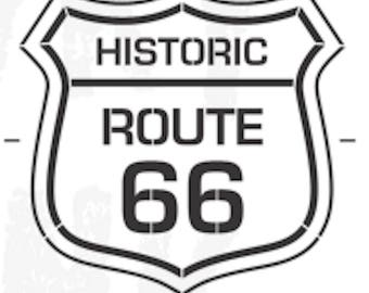 Funky Junk Stencil - Route 66 - Furniture or Wall Stencil