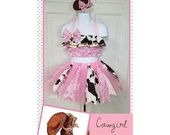 Cowgirl Costume, Cowgirl Tutu, Western Outfit,  Rodeo Outfit, Cowgirl Birthday, Western Birthday, Semi Glitz Cowgirl, Semi Glitz Western