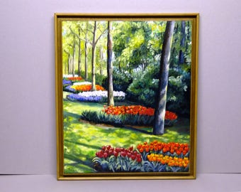 """NELLY """"Holland""""60 X 51 tulips oil painting"""