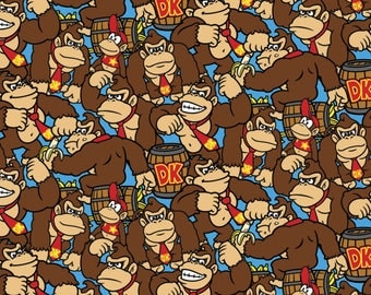 Nintendo Donkey Kong Cotton fabric