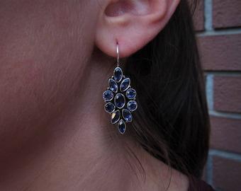 Amethyst silver earrings - 925 sterling silver - Amethyst jewelry