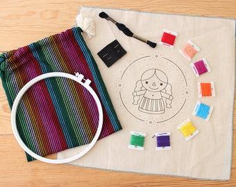 "Embroidery kit ""Maria Rag Doll"" + Video-Tutorial"