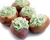 Ooh, Baby Stuffed Reds Potatoes downloadable PDF or JPEG Eating Cleaner recipe file, printable appetizer recipe