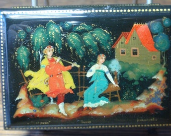 Miniature Russian Lacquer Box