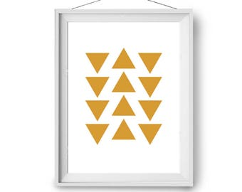 Minimal Print, Yellow Art, Mustard Print, Scandinavian Art, Geometric Print, Wall Decor, Large Print, Modern Art Prints, Print Avenue Art