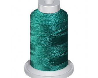 4627 Wild Peacock Blue 1100Yd Embroidery Machine Thread Spool 40 Weight (120/2) Premium Polyester Thread For Home and Commercial Embroidery