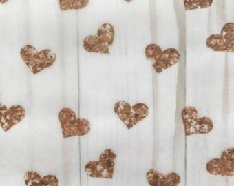 Rose Gold Glitter Hearts // Vellum TN Travelers Notebook Ephemera