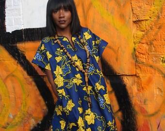 Wax Print Shift Dress African Dress African Print Clothing African Shift Dress Ankara Festival Dress Summer Outfit African Fashion Womens