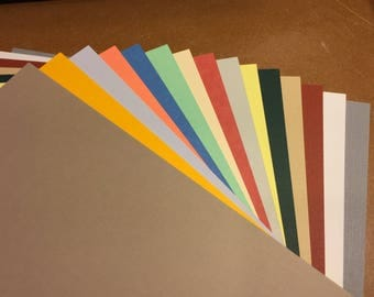 Cardstock - Assorted Colors & Paperweights - 45 pcs - 8 1/2 x 11 Sheets