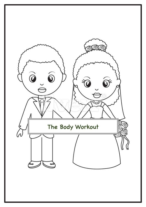 african american wedding coloring book for children kids coloring pages wedding activity book coloring pages wedding afrocentric book - Wedding Coloring Books For Children