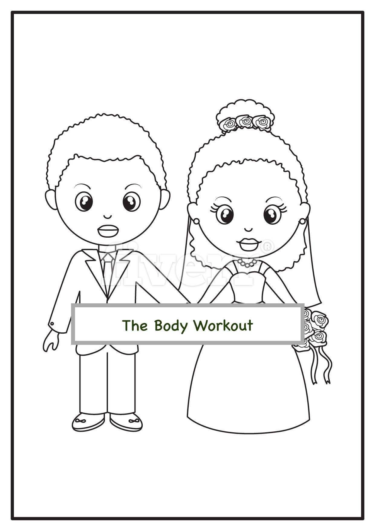 african american wedding coloring book for children kids