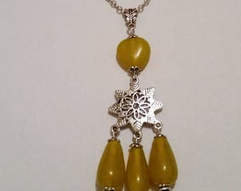 Indian Yellow Glass Pendant