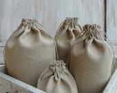 Set of linen bags, multiple sizes