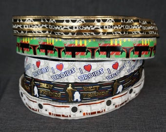 Star Wars Inspired (Foil) Non-slip Headband - Gears, Boba Fett, I <3 Droids, Best Friends, BB8