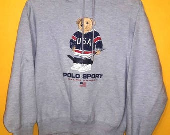 Vintgae Polo Sport Bear By Polo Ralph Lauren sweatshirt hoodies small size