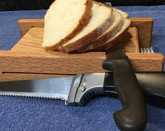 Basic Plus Oak Horizontal Bread Slicing Guide. Two Thicknesses.  Includes Anti slip Mat