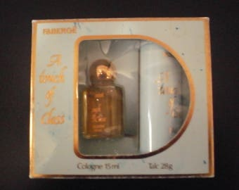 Faberge  cologne and talc set