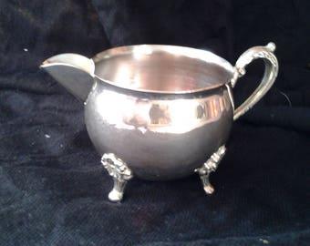 Vintage Silver Plated Art Nouveau Creamer