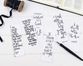 Be Strong Christian Bookmarks - Christian Gift  - Bible Verse Bookmarks  (pack of six) - Eco Friendly