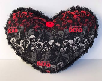 "11x13"" Zombie Heart Pillow for the Walking Dead fan"