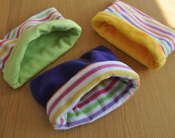 Pet snugglies (fleece pods) for guinea pig, rat, chinchilla, rabbit etc. Perfect for cuddles. **NEW COLOURS in STOCK**