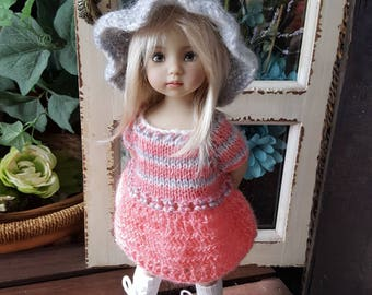 Dianna Effner Little Darling Doll Hand Knit Dress and Hat