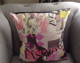 2 Cushion/Pillow covers Vogue magazine print