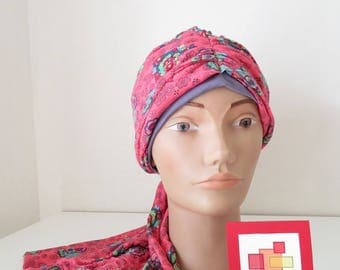 SCARF JERSEY CHEMO HAT