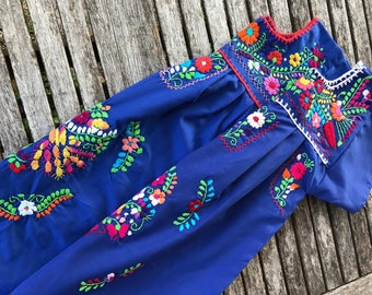 Mexican Dress, Girls' Puebla Dress, Fiesta Dress Size 6