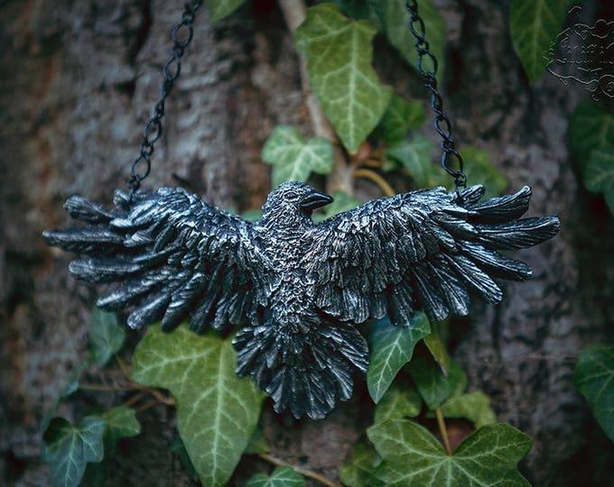 Raven Necklace Silver