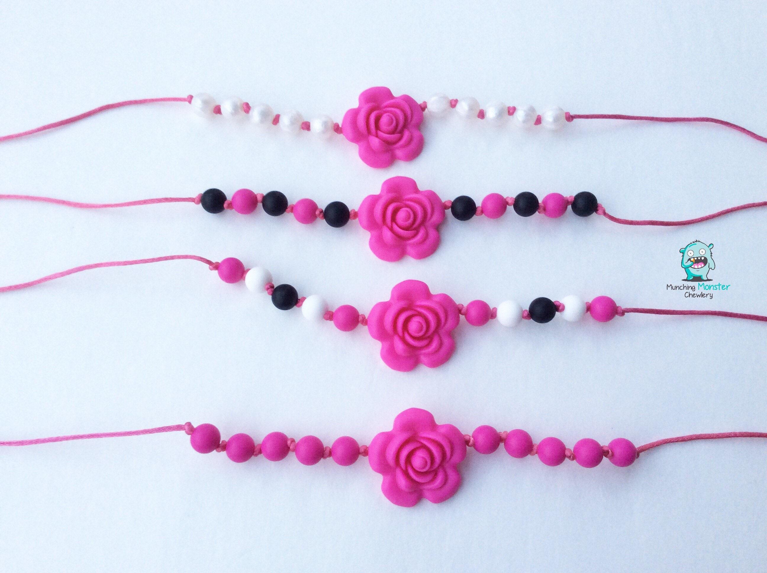 Rose Child s Necklace chewable necklace sensory necklace ASD