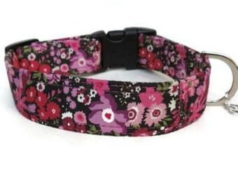 Chloe Liberty Fabric, Floral Dog Collar, Perfect For Girl Dogs, Made In The UK,