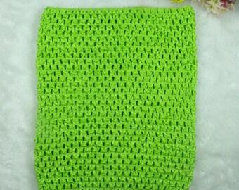STRAPLESS stretch 2-6 Green Apple - lemon crochet for making dress TUTU