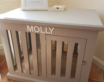 Handmade wooden dog crate