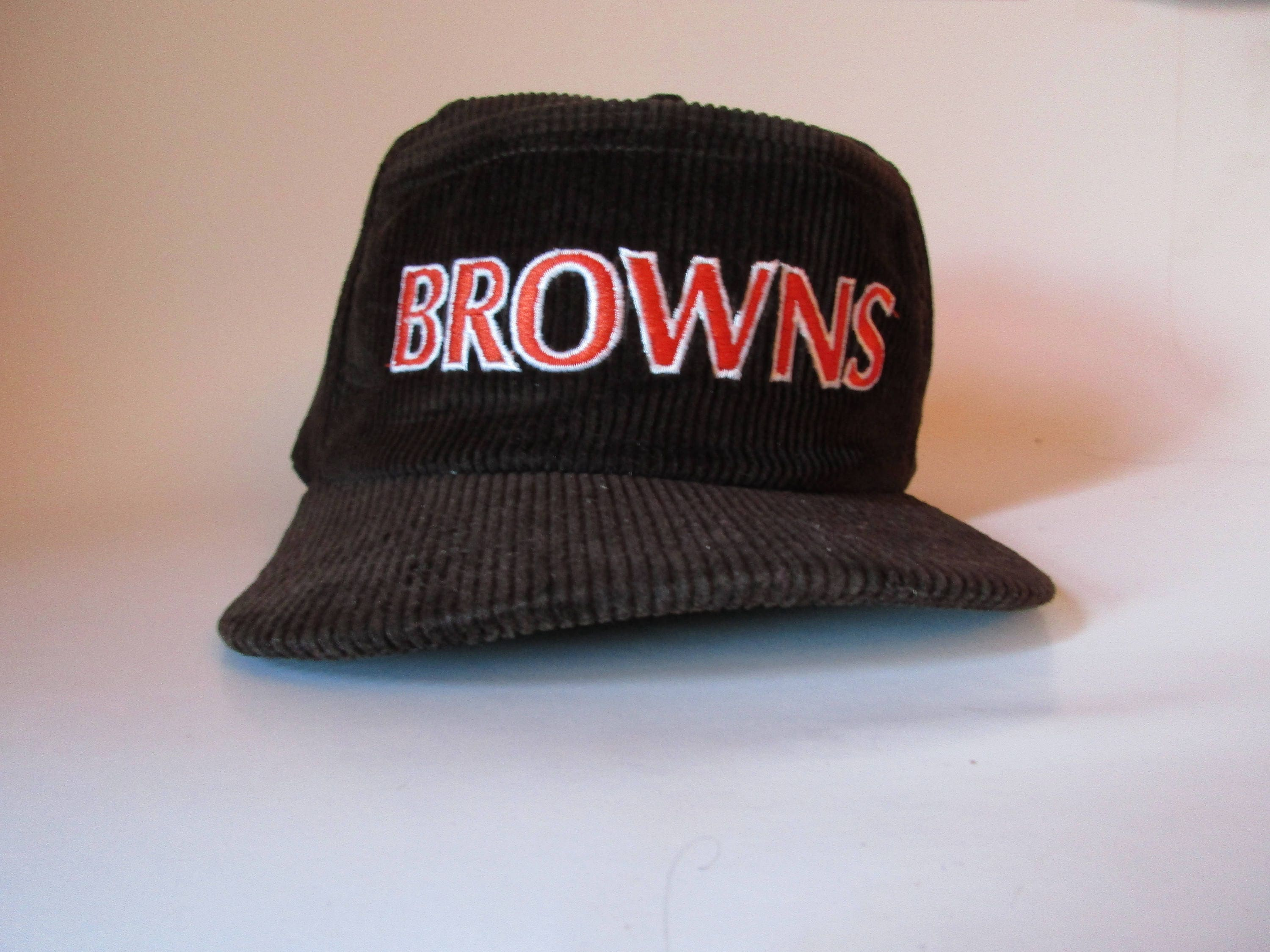france vintage 80s new era 5 panel corduroy nfl cleveland browns snapback  hat 2fe14 23d97 252d25b32
