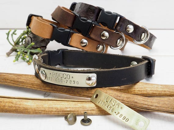 small dog leather collar leather collar breakaway collar. Black Bedroom Furniture Sets. Home Design Ideas