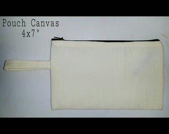 Pouch canvas 4x7
