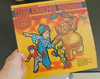 Vintage Disco Music Album for Children, Disco Record for Kids, LP, It's A Small World, Winnie the Pooh, Whistle While You Work