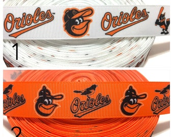 7/8 Baltimore Orioles Ribbon, Orioles Grosgrain Ribbon