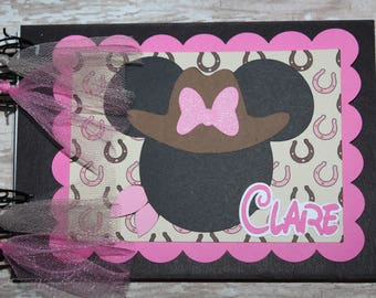 Personalized Disney Cowgirl Autograph Book