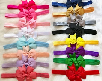 PICK 1 Bow Headband, Baby Headband, Newborn Headband, Baby Girl Headband, Infant Headband, Baby Bow Headband, Baby Hair Bow, Bow Headband