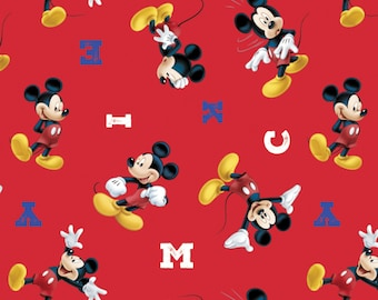 Mickey Mouse Cotton Fabric by Disney for Springs Creative, Mickey Mouse Fabric, Disney Fabric