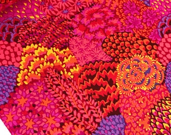 Oriental Trees in Red from the Kaffe Fassett Collective Fall 2012, Kaffe Fassett Red Floral