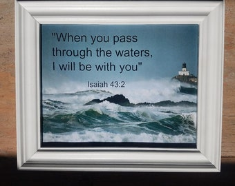 Christian wall decor - Christian framed scripture - Christian wall art - framed scripture - framed wall art - scripture wall decor